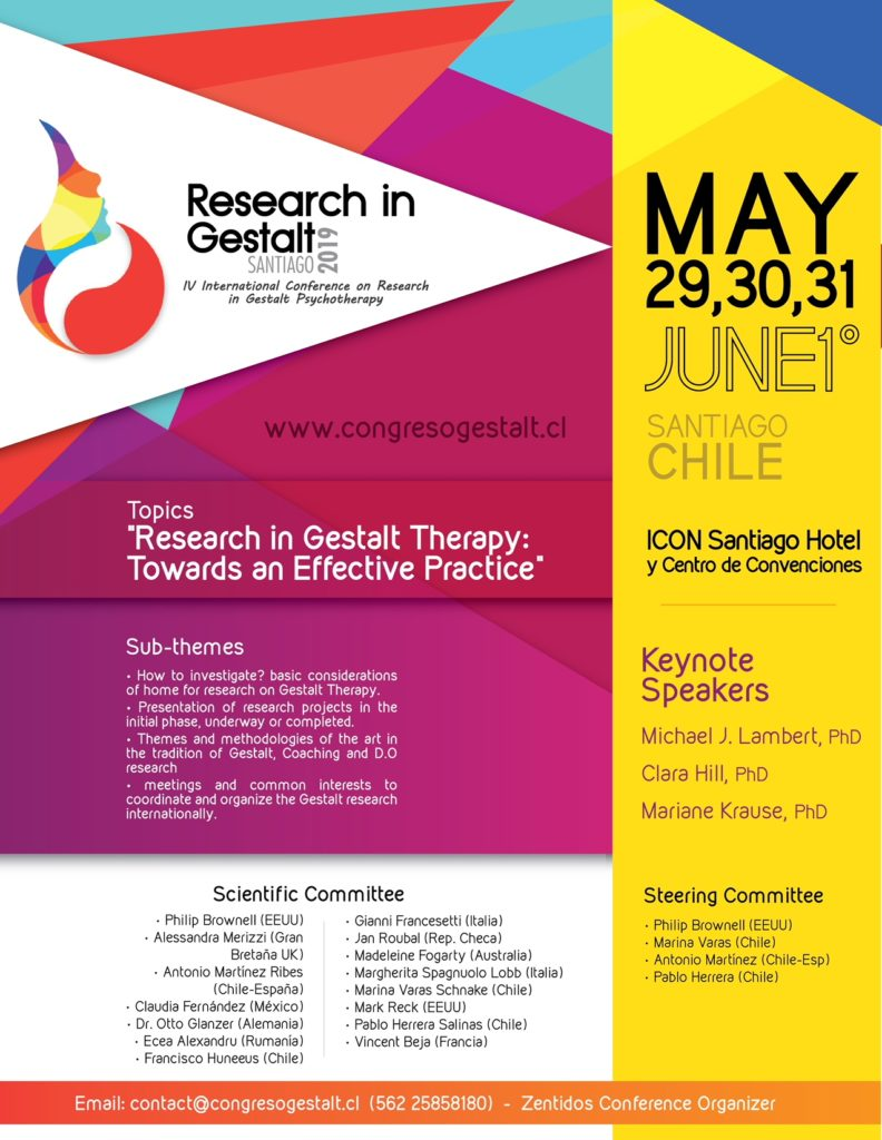Santiago IV° International Conference on Research in Gestalt Psychoterapy